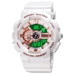 SKMEI 1688 LED Dual Time Digital Display + Pointer Luminous Sports Electronic Watch(White)