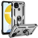 For OPPO Realme C21 Shockproof TPU + PC Protective Case with 360 Degree Rotating Holder(Silver)