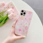 Flower Pattern TPU Shockproof Protective Case For iPhone 12 / 12 Pro(Pink)
