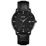 SKMEI 1801 Men Casual Calendar Quartz Watch(BLack)