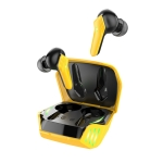 hoco S21 Bluetooth 5.0 Magic Shadow Gaming Wireless Bluetooth Earphone(Yellow)