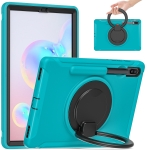 For Samsung Galaxy Tab S6 T860 Shockproof TPU + PC Protective Case with 360 Degree Rotation Foldable Handle Grip Holder & Pen Slot(Blue)