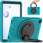 For Samsung Galaxy Tab A 8.4 T307 2020 Shockproof TPU + PC Protective Case with 360 Degree Rotation Foldable Handle Grip Holder & Pen Slot(Blue)