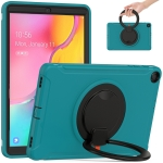 For Samsung Galaxy Tab A 10.1 T515/T510 2019 Shockproof TPU + PC Protective Case with 360 Degree Rotation Foldable Handle Grip Holder & Pen Slot(Blue)