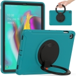 For Samsung Galaxy Tab S5e 10.5 inch T720 2019 Shockproof TPU + PC Protective Case with 360 Degree Rotation Foldable Handle Grip Holder & Pen Slot(Blue)