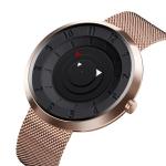 SKMEI 9174 Compass Style Round Digital Dial Quartz Watch for Men(Rose Gold)