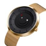SKMEI 9174 Compass Style Round Digital Dial Quartz Watch for Men(Gold)