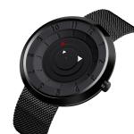 SKMEI 9174 Compass Style Round Digital Dial Quartz Watch for Men(Black)