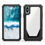 Stellar Space PC + TPU 360 Degree All-inclusive Shockproof Case For iPhone X / XS(Black)