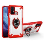 Matte TPU + PC Magnetic Shockproof Case with Ring Holder For vivo Y50(Red)
