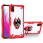 Matte TPU + PC Magnetic Shockproof Case with Ring Holder For vivo Y93(Red)