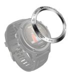 For Garmin Fenix 3/3 HR Smart Watch Steel Bezel Ring, B Version(Silver Ring Black Letter)