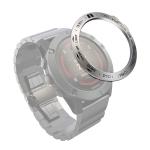 For Garmin Fenix 5X/5X Plus Smart Watch Steel Bezel Ring, B Version(Silver Ring Black Letter)