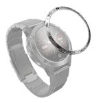 For Garmin Fenix 5 Smart Watch Steel Bezel Ring, B Version(Silver Ring Black Letter)