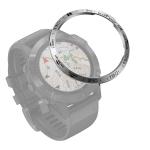 For Garmin Fenix 6/6 Pro/ 6 Sapphire Smart Watch Steel Bezel Ring, B Version(Silver Ring Black Letter)