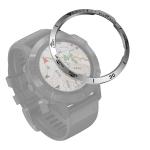 For Garmin Fenix 6X/6X Pro/6X Sapphire Smart Watch Steel Bezel Ring, B Version(Silver Ring Black Letter)