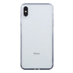 Transparent Stepless Fine Hole Glass Protective Case For iPhone XS Max