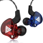 QKZ AK6 3.5mm In-Ear Wired Subwoofer Sports Earphone, Cable Length: About 1.2m(Blue and Red)