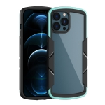 Shield 3 in 1 Acrylic PC Rubber Shockproof Case For iPhone 13 Pro(Cyan)