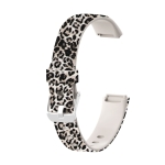 For Fitbit Luxe Special Edition Printing Silicone Replacement Strap Watchband, Size: S(Brown Leopard)