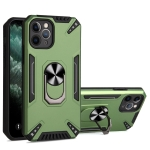 PC + TPU Protective Case with 360 Degrees Rotatable Ring Holder For iPhone 11 Pro(Dark Green)