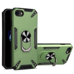 PC + TPU Protective Case with 360 Degrees Rotatable Ring Holder For iPhone SE 2020 & 8 & 7(Dark Green)