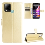 For Infinix Hot 10s X689 Crazy Horse Texture Horizontal Flip Leather Case with Holder & Card Slots & Lanyard(Gold)