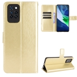 For Infinix Note 10 Pro Crazy Horse Texture Horizontal Flip Leather Case with Holder & Card Slots & Lanyard(Gold)