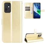 For Infinix Note 10 Crazy Horse Texture Horizontal Flip Leather Case with Holder & Card Slots & Lanyard(Gold)