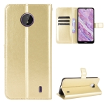 For Nokia C10 / C20 Crazy Horse Texture Horizontal Flip Leather Case with Holder & Card Slots & Lanyard(Gold)