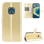 For Nokia XR20 Crazy Horse Texture Horizontal Flip Leather Case with Holder & Card Slots & Lanyard(Gold)