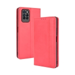 For Infinix Note 10 Pro / 10 Pro NFC Magnetic Buckle Retro Crazy Horse Texture Horizontal Flip Leather Case with Holder & Card Slots & Photo Frame(Red)