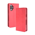For Xiaomi Poco F3 GT / Redmi K40 Gaming Magnetic Buckle Retro Crazy Horse Texture Horizontal Flip Leather Case with Holder & Card Slots & Photo Frame(Red)