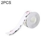 2 PCS Kitchen Mildewproof Waterproof Moisture-proof Tape Corner Line Sticker Seal, Style:White Single Fold(Water Ink Plum Blossom)