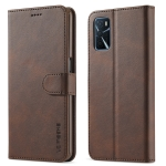 LC.IMEEKE Calf Texture Horizontal Flip Leather Case with Holder & Card Slots & Wallet For OPPO A16(Brown)