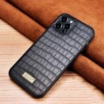 SULADA Crocodile Texture TPU Protective Case For iPhone 13 Pro Max(Black)