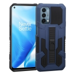 For OnePlus Nord N200 5G Vanguard Warrior All Inclusive Double-color Shockproof TPU + PC Protective Case with Holder(Cobalt Blue)