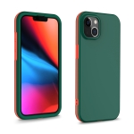 Dual-color 360 Degrees Full Coverage Protective PC + TPU Shockproof Case For iPhone 13 mini(Dark Green)