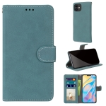 Retro Frosted Horizontal Flip PU Leather Case with Holder & Card Slots & Wallet & Photo Frame For iPhone 13(Blue)