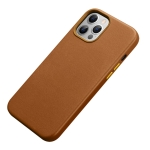 R-JUST Shockproof Magnetic Cowhide Leather Magsafe Case For iPhone 13 Pro(Brown)
