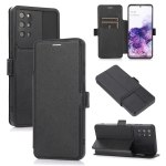 Push Window Double Buckle PU + Silicone Horizontal Flip Leather Case with Holder & Card Slot For Samsung Galaxy S20+ 5G(Black)
