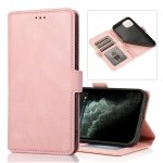 Retro Magnetic Closing Clasp Horizontal Flip Leather Case with Holder & Card Slots & Photo Frame & Wallet For iPhone 13(Rose Gold)