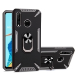 For Huawei P30 lite PC + TPU Protective Case with 360 Degrees Rotatable Ring Holder(Gray)
