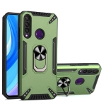 For Huawei Y6p PC + TPU Protective Case with 360 Degrees Rotatable Ring Holder(Dark Green)