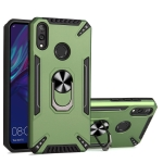 For Huawei Y7 2019 PC + TPU Protective Case with 360 Degrees Rotatable Ring Holder(Dark Green)