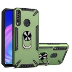 For Huawei Y7p PC + TPU Protective Case with 360 Degrees Rotatable Ring Holder(Dark Green)