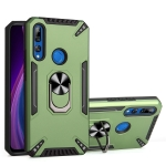 For Huawei Y9 Prime 2019 PC + TPU Protective Case with 360 Degrees Rotatable Ring Holder(Dark Green)