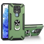 For Tecno Camon 16 PC + TPU Protective Case with 360 Degrees Rotatable Ring Holder(Dark Green)