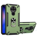 For Tecno Spark 6 PC + TPU Protective Case with 360 Degrees Rotatable Ring Holder(Dark Green)