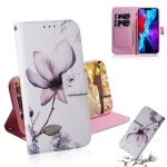 Coloured Drawing Horizontal Flip Leather Case, with Holder & Card Slots & Wallet For iPhone 13 mini(Magnolia Flower)
